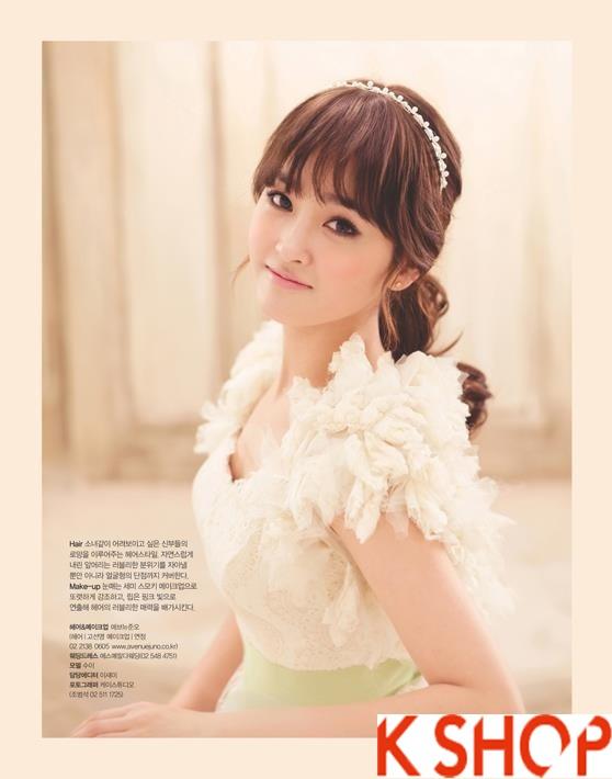 Những kiểu tóc tết cô dâu đẹp các sao Hàn Quốc thu đông 2015 - 2016 phần 20