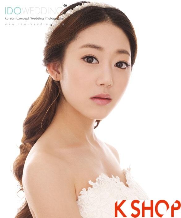 Những kiểu tóc tết cô dâu đẹp các sao Hàn Quốc thu đông 2015 - 2016 phần 21