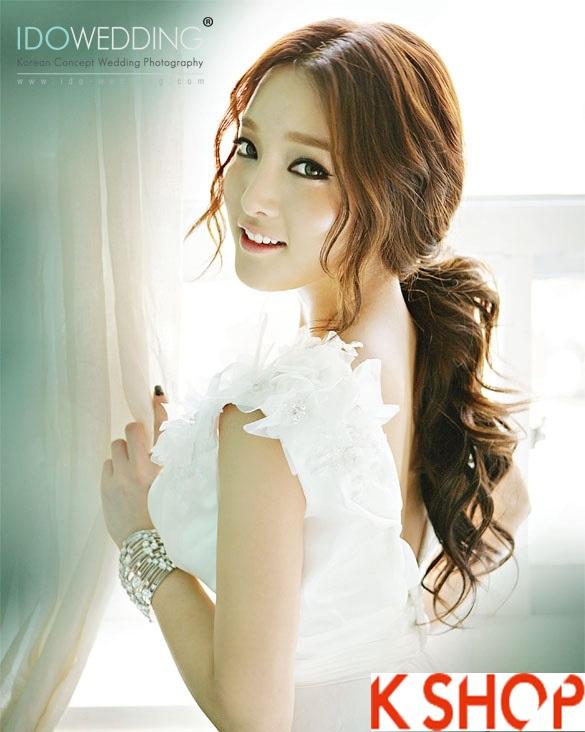 Những kiểu tóc tết cô dâu đẹp các sao Hàn Quốc thu đông 2015 - 2016 phần 25