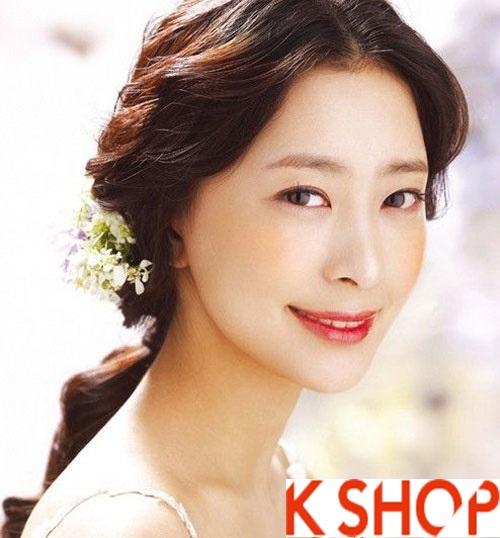 Những kiểu tóc tết cô dâu đẹp các sao Hàn Quốc thu đông 2015 - 2016 phần 3