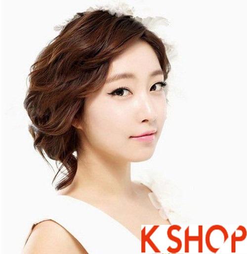 Những kiểu tóc tết cô dâu đẹp các sao Hàn Quốc thu đông 2015 - 2016 phần 7