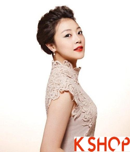 Những kiểu tóc tết cô dâu đẹp các sao Hàn Quốc thu đông 2015 - 2016 phần 8