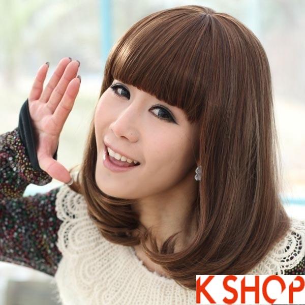Kiểu tóc ngắn ngang vai uốn xoăn Hàn Quốc đẹp 2017 rất được bạn gái ưa chuộng phần 14