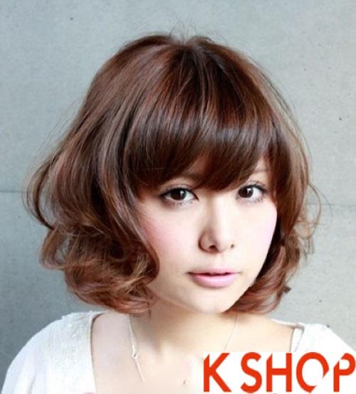 Tạo kiểu tóc ngắn uốn xoăn Hàn Quốc tuyệt đẹp ngang vai 2015 cho cô nàng thêm trẻ trung xinh xắn phần 3