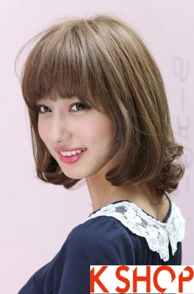 Kiểu tóc ngắn ngang vai uốn xoăn Hàn Quốc đẹp 2017 rất được bạn gái ưa chuộng phần 5