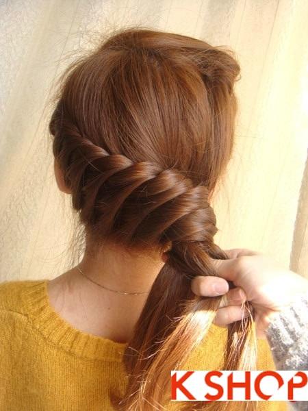 Tết tóc đuôi tôm uốn ngược Hàn Quốc đẹp 2016 dễ làm tại nhà phần 10