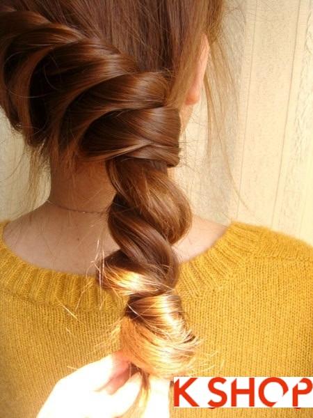 Tết tóc đuôi tôm uốn ngược Hàn Quốc đẹp 2016 dễ làm tại nhà phần 12