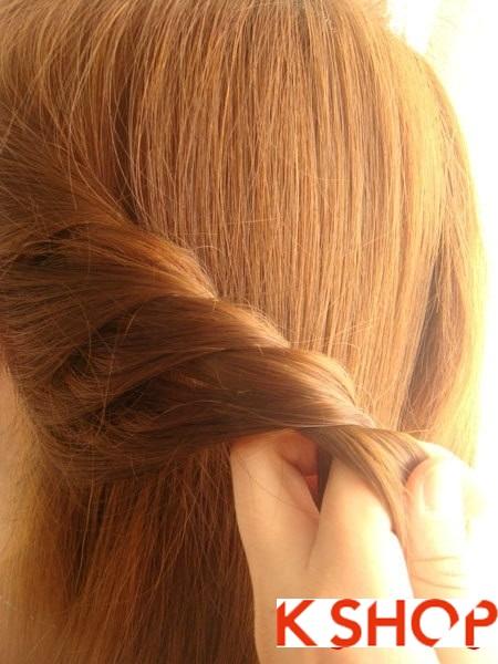 Tết tóc đuôi tôm uốn ngược Hàn Quốc đẹp 2016 dễ làm tại nhà phần 8