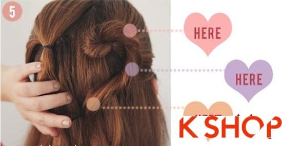 Cách tết tóc kiểu Hàn Quốc đẹp 2016 hình trái tim dễ thương tại nhà phần 3