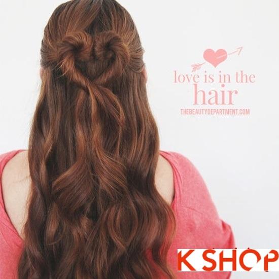 Cách tết tóc kiểu Hàn Quốc đẹp 2016 hình trái tim dễ thương tại nhà phần 5