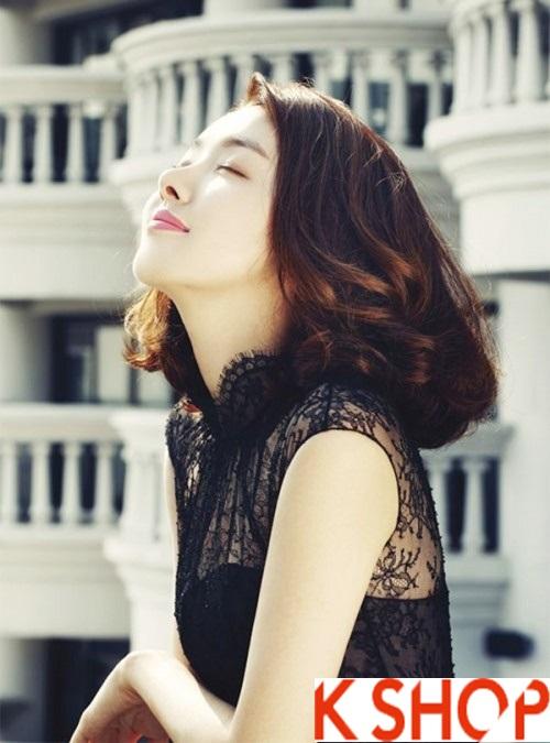 Tóc uốn xoăn Hàn Quốc đẹp hè 2017 cho cô nàng khuôn mặt dài phần 7
