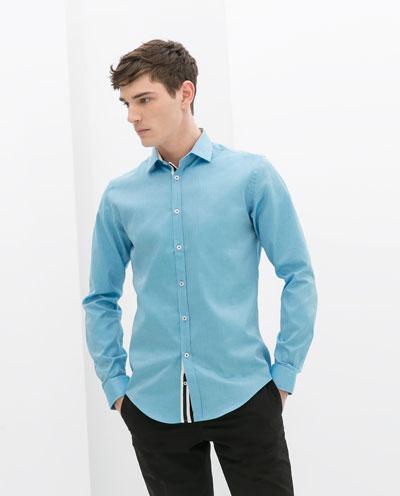 Áo sơ mi nam màu xanh đẹp hè 2017 cho chàng trai công sở mát mẻ phần 1