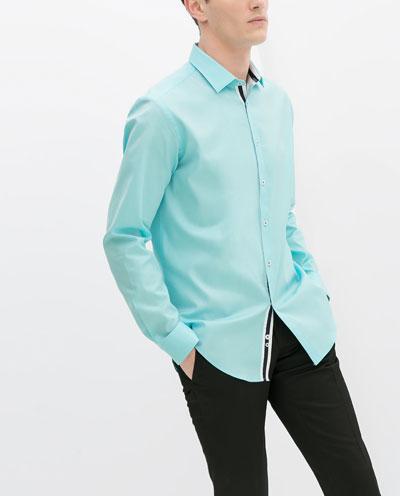 Áo sơ mi nam màu xanh đẹp hè 2017 cho chàng trai công sở mát mẻ phần 2