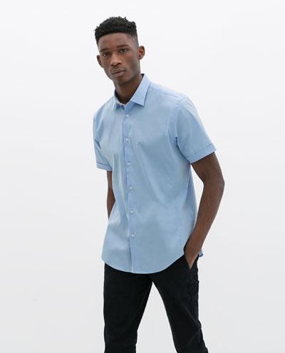 Áo sơ mi nam màu xanh đẹp hè 2017 cho chàng trai công sở mát mẻ phần 3