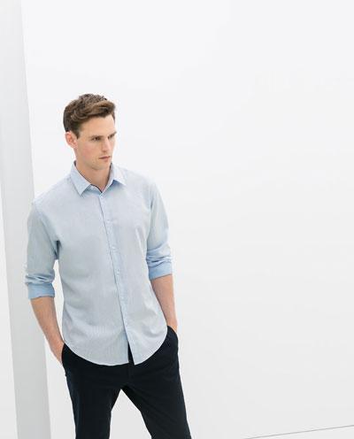 Xu hướng diện sơ mi xanh tuyệt đẹp cho các chàng trai nơi công sở trong mùa thời trang nam 2015 năm nay phần 5