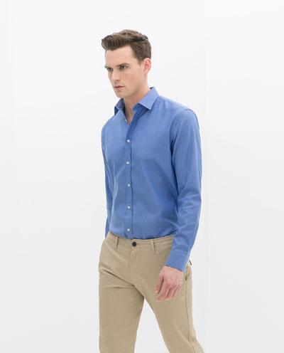 Áo sơ mi nam màu xanh đẹp hè 2017 cho chàng trai công sở mát mẻ phần 6
