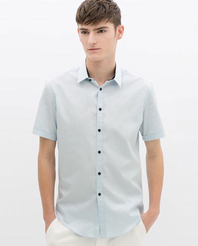 Áo sơ mi nam màu xanh đẹp hè 2017 cho chàng trai công sở mát mẻ phần 9