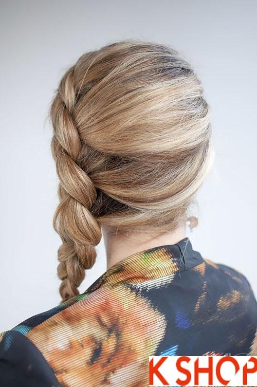 Cách tết tóc lệch đẹp 2017 dễ thương cho cô nàng xinh xắn phần 8