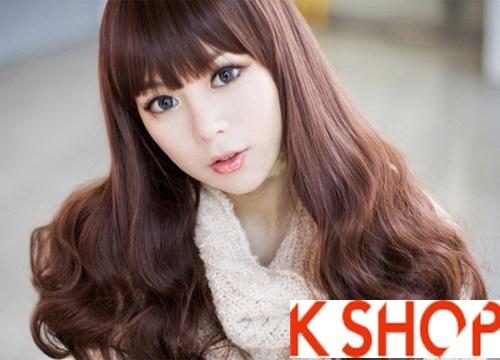 Kiểu tóc xoăn đẹp 2016 phong cách Hàn Quốc cho cô nàng xinh xắn phần 3