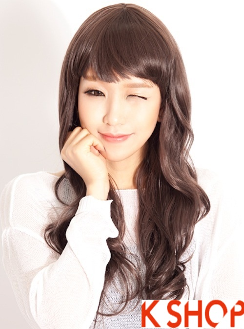 Kiểu tóc xoăn đẹp 2016 phong cách Hàn Quốc cho cô nàng xinh xắn phần 4