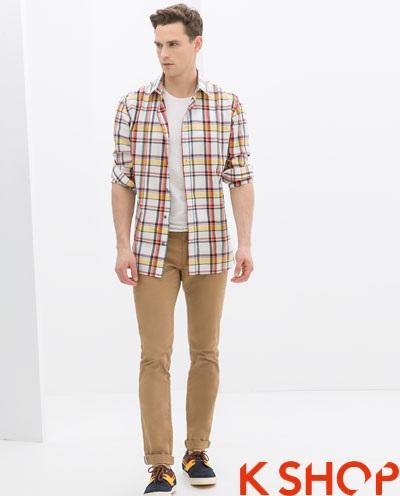Áo sơ mi nam sọc kẻ caro đẹp hợp xu hướng thời trang hàn quốc hè 2017 phần 3
