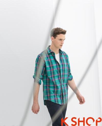 Áo sơ mi nam sọc kẻ caro đẹp hợp xu hướng thời trang hàn quốc hè 2017 phần 9
