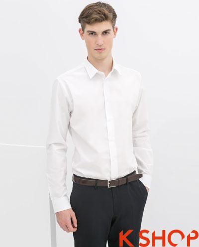 Áo sơ mi nam trắng đẹp hè 2017 cho chàng trai đến công sở trẻ trung phần 2
