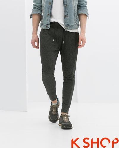 Quần sweatpants nam ống bó đẹp xu hướng thời trang 2017 phần 1