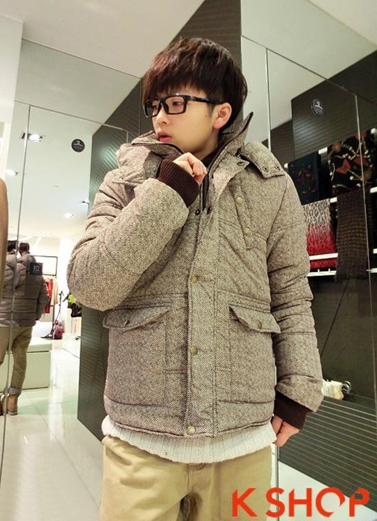 Tổng hợp mẫu áo khoác phao nam đẹp thu đông 2016 - 2017 kiểu Hàn Quốc ấm áp phần 13