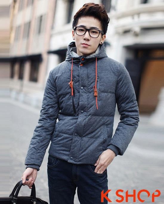 Tổng hợp mẫu áo khoác phao nam đẹp thu đông 2016 - 2017 kiểu Hàn Quốc ấm áp phần 14