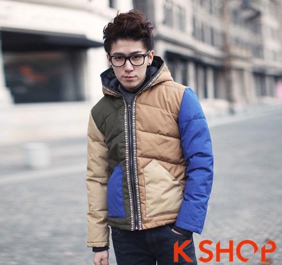 Tổng hợp mẫu áo khoác phao nam đẹp thu đông 2016 - 2017 kiểu Hàn Quốc ấm áp phần 15