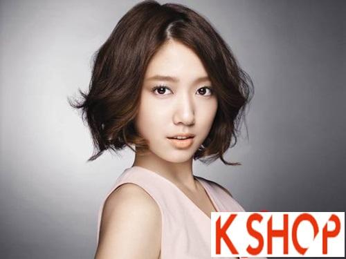 3 kiểu tóc ngắn uốn xoăn đuôi đẹp sao Hàn Quốc yêu thích 2017 phần 8