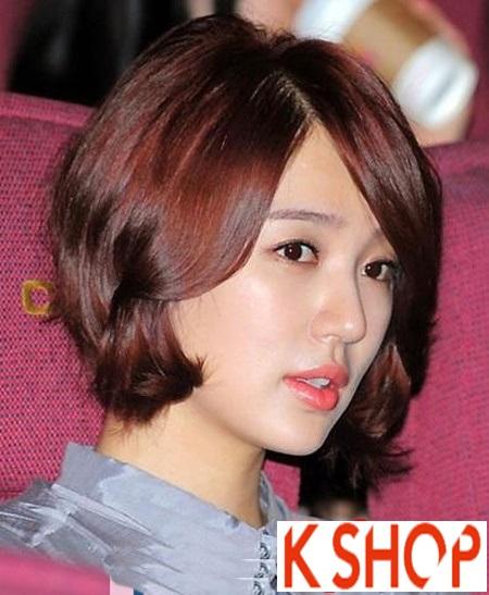 3 kiểu tóc ngắn uốn xoăn đuôi đẹp sao Hàn Quốc yêu thích 2017 phần 9