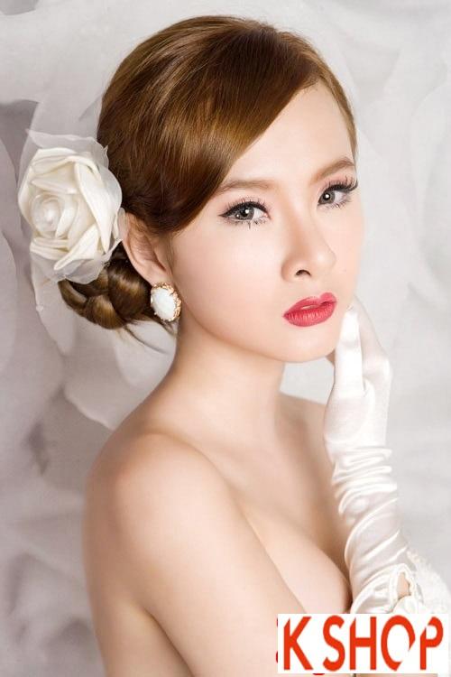 5+ Kiểu tóc cô dâu Hàn Quốc đẹp cho nàng nổi bật duyên dáng 2016 phần 9