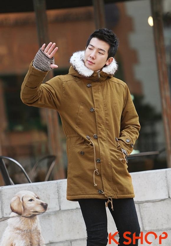 Áo khoác nam phao lông có mũ kiểu Hàn Quốc đẹp ấm áp đông 2016 - 2017 lạnh giá phần 1
