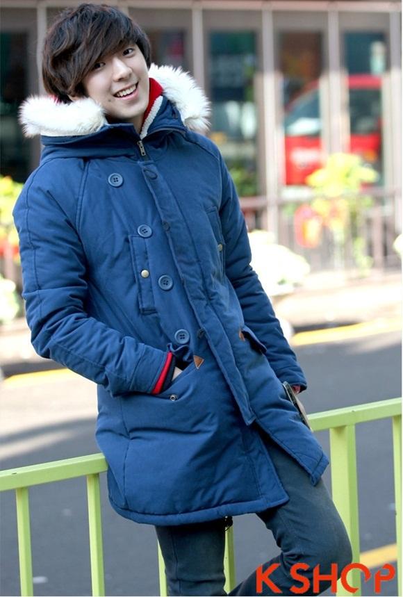 ÁÁo khoác nam phao lông có mũ kiểu Hàn Quốc đẹp ấm áp đông 2016 - 2017 lạnh giá phần 10