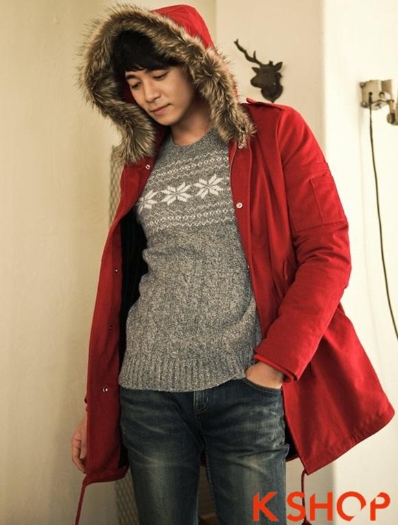 Áo khoác nam phao lông có mũ kiểu Hàn Quốc đẹp ấm áp đông 2016 - 2017 lạnh giá phần 13