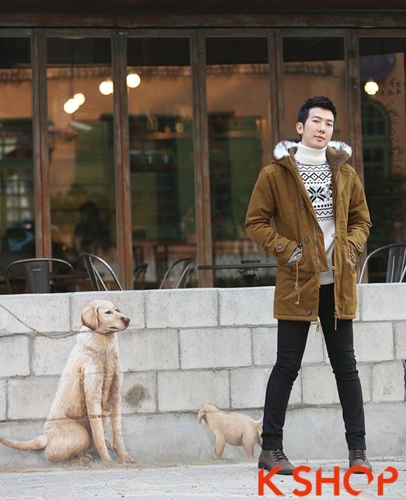 Áo khoác nam phao lông có mũ kiểu Hàn Quốc đẹp ấm áp đông 2016 - 2017 lạnh giá phần 2