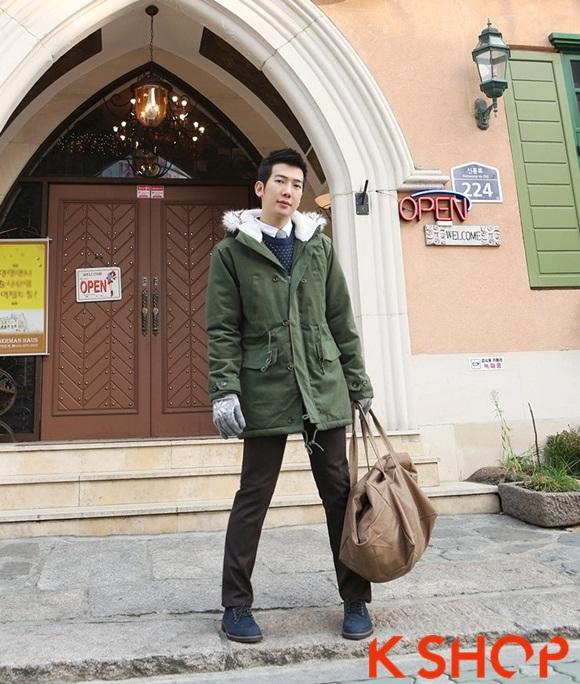 Áo khoác nam phao lông có mũ kiểu Hàn Quốc đẹp ấm áp đông 2016 - 2017 lạnh giá phần 3