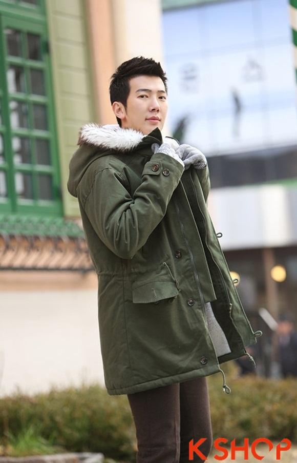 Áo khoác nam phao lông có mũ kiểu Hàn Quốc đẹp ấm áp đông 2016 - 2017 lạnh giá phần 4