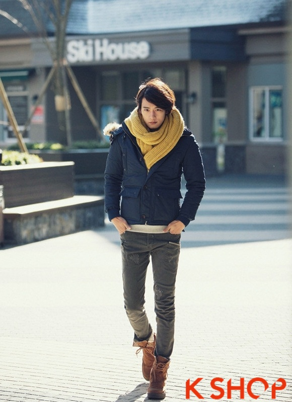 Áo khoác nam phao lông có mũ kiểu Hàn Quốc đẹp ấm áp đông 2016 - 2017 lạnh giá phần 8