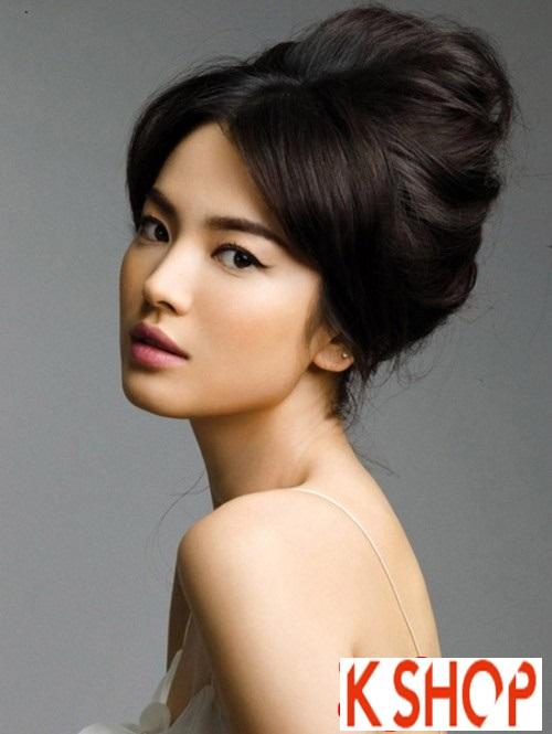 Tóc búi đẹp 2016 phong cách Hàn Quốc trẻ trung xinh xắn phần 6