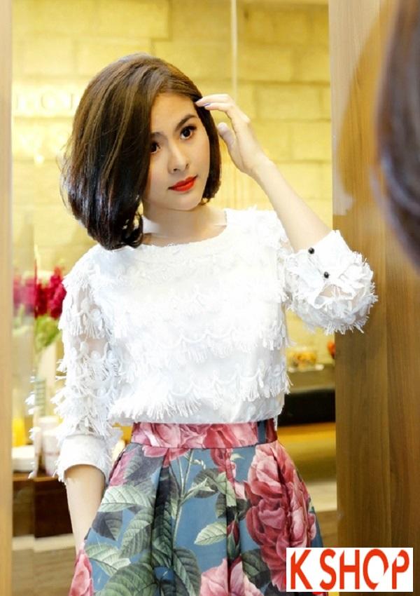 Ngắm kiểu tóc ngắn ngang vai đẹp của sao Việt nổi bật nhất 2017 phần 1