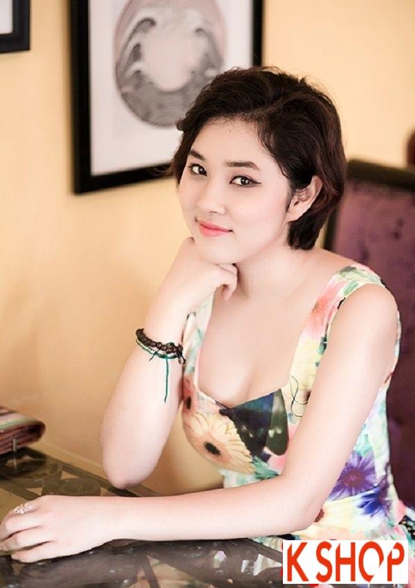 Ngắm kiểu tóc ngắn ngang vai đẹp của sao Việt nổi bật nhất 2017 phần 11