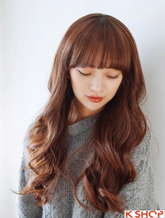 Top 5 kiểu tóc dài uốn xoăn lọn nhỏ bồng bềnh Hàn Quốc đẹp nhất hè 2017 phần 10