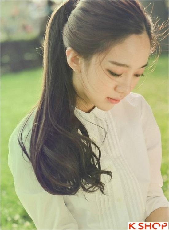 Top 5 kiểu tóc dài uốn xoăn lọn nhỏ bồng bềnh Hàn Quốc đẹp nhất hè 2017 phần 13