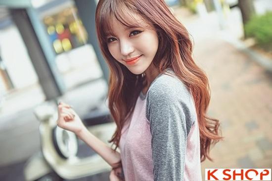 Top 5 kiểu tóc dài uốn xoăn lọn nhỏ bồng bềnh Hàn Quốc đẹp nhất hè 2017 phần 5