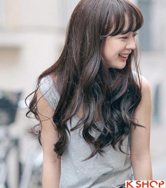 Top 5 kiểu tóc dài uốn xoăn lọn nhỏ bồng bềnh Hàn Quốc đẹp nhất hè 2017 phần 6