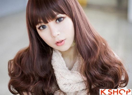 Top 5 kiểu tóc dài uốn xoăn lọn nhỏ bồng bềnh Hàn Quốc đẹp nhất hè 2017 phần 9