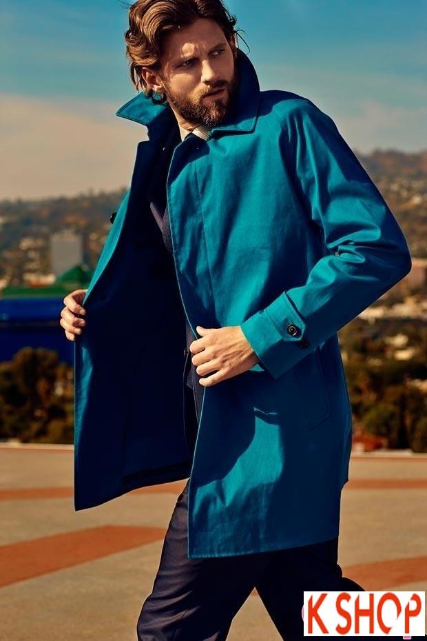 Áo khoác dạ măng tô nam Trench Coat thương hiệu Ý gam màu đặc sắc nổi bật 2017 phần 2